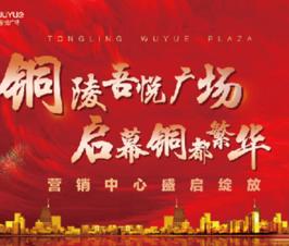 倾城绽放丨今日,铜陵吾悦广场营销中心完美绽放!
